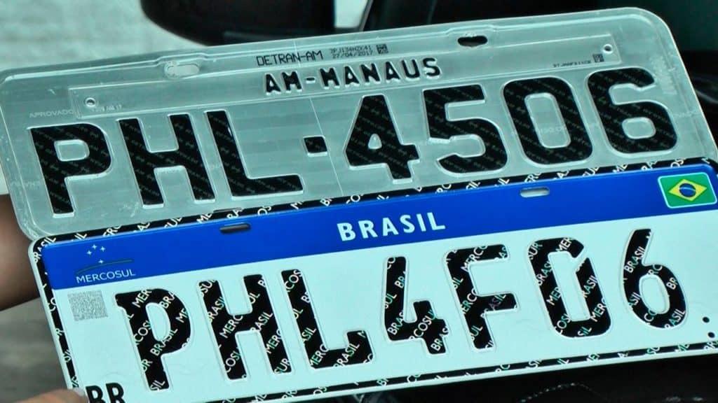 Placa Mercosul carros Brasil