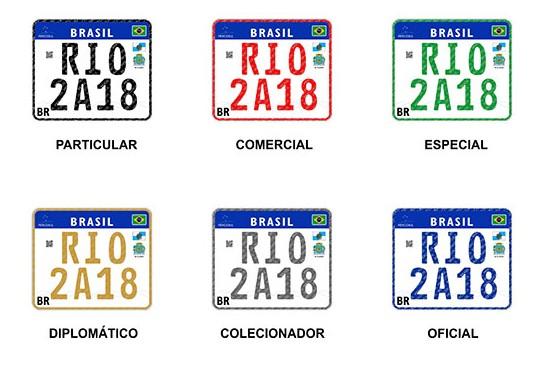Placa Mercosul motos brasil
