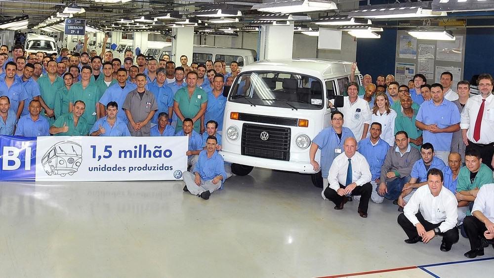 Volkswagen Kombi produção 1,5 milhão
