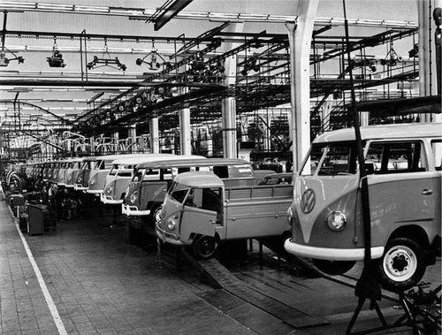Volkswagen Kombi Transporter fábrica 1950