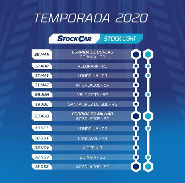Stock Car Brasil calendário