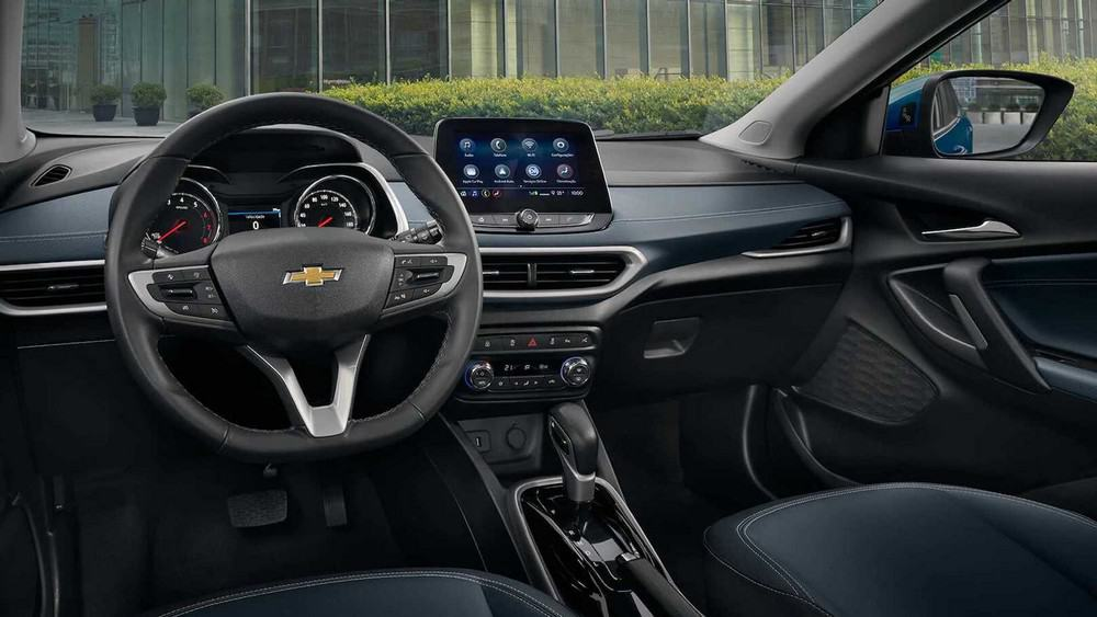Foto do interior da nova geração da Chevrolet Tracker