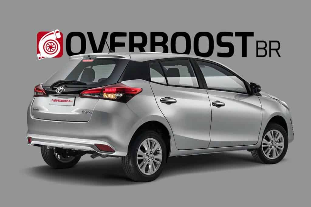 Projeção do novo Toyota Yaris