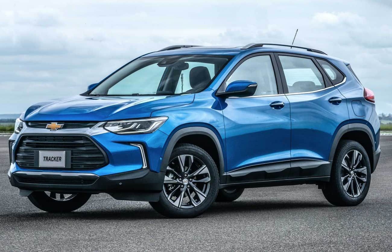 Nova geração do Chevrolet Tracker vista de dianteira