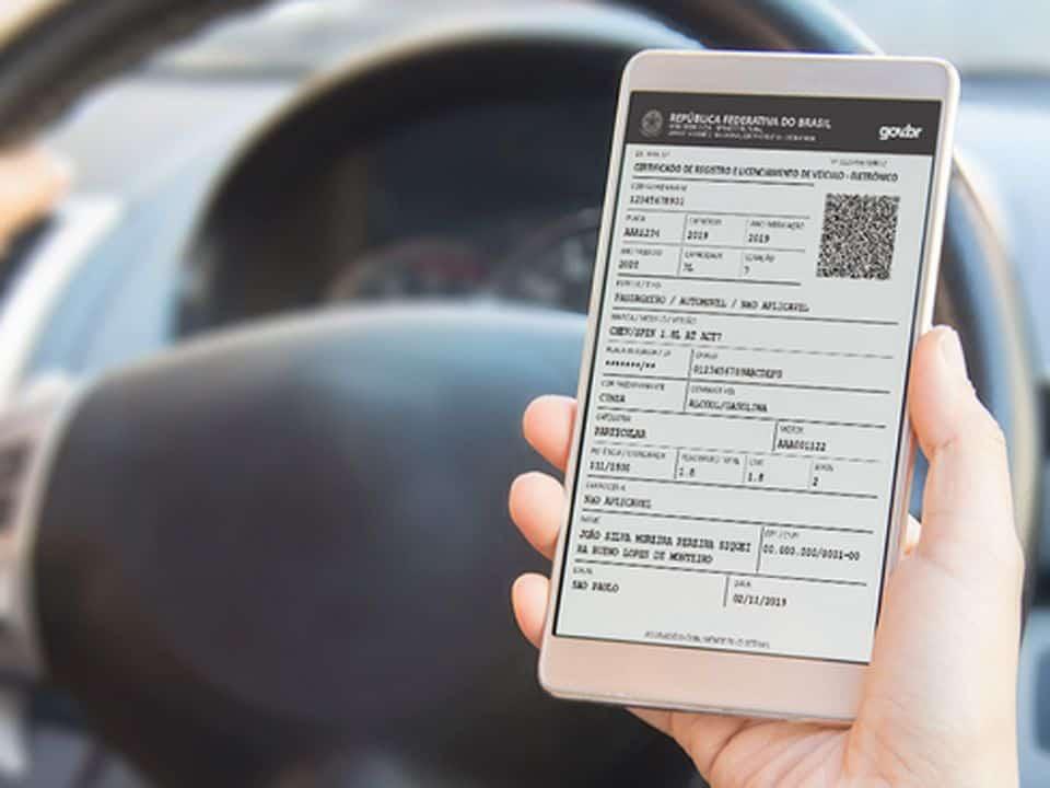 CRVLe certificado do carro