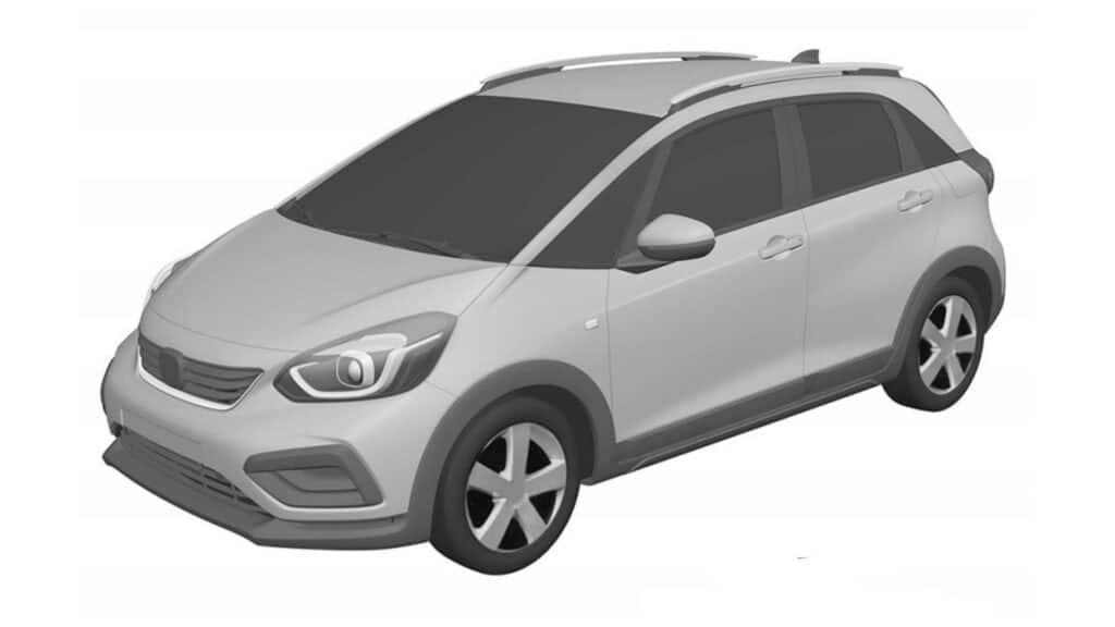 Desenho industrial do novo Honda Fit, na versão Crosstar, registrada no INPI