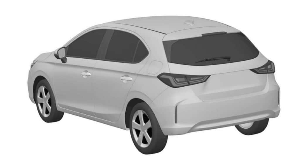 Desenho industrial do Honda City hatch registrado no INPI