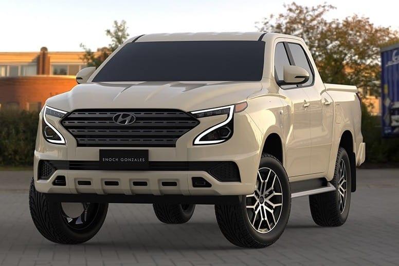Projeção picape Hyundai