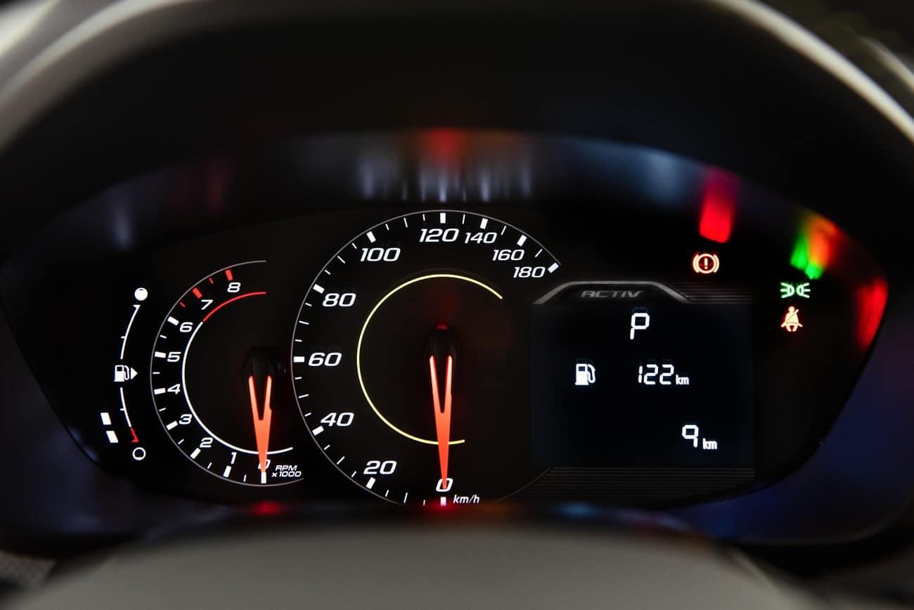 Chevrolet Spin 2021 novo grafismo no quadro de instrumentos