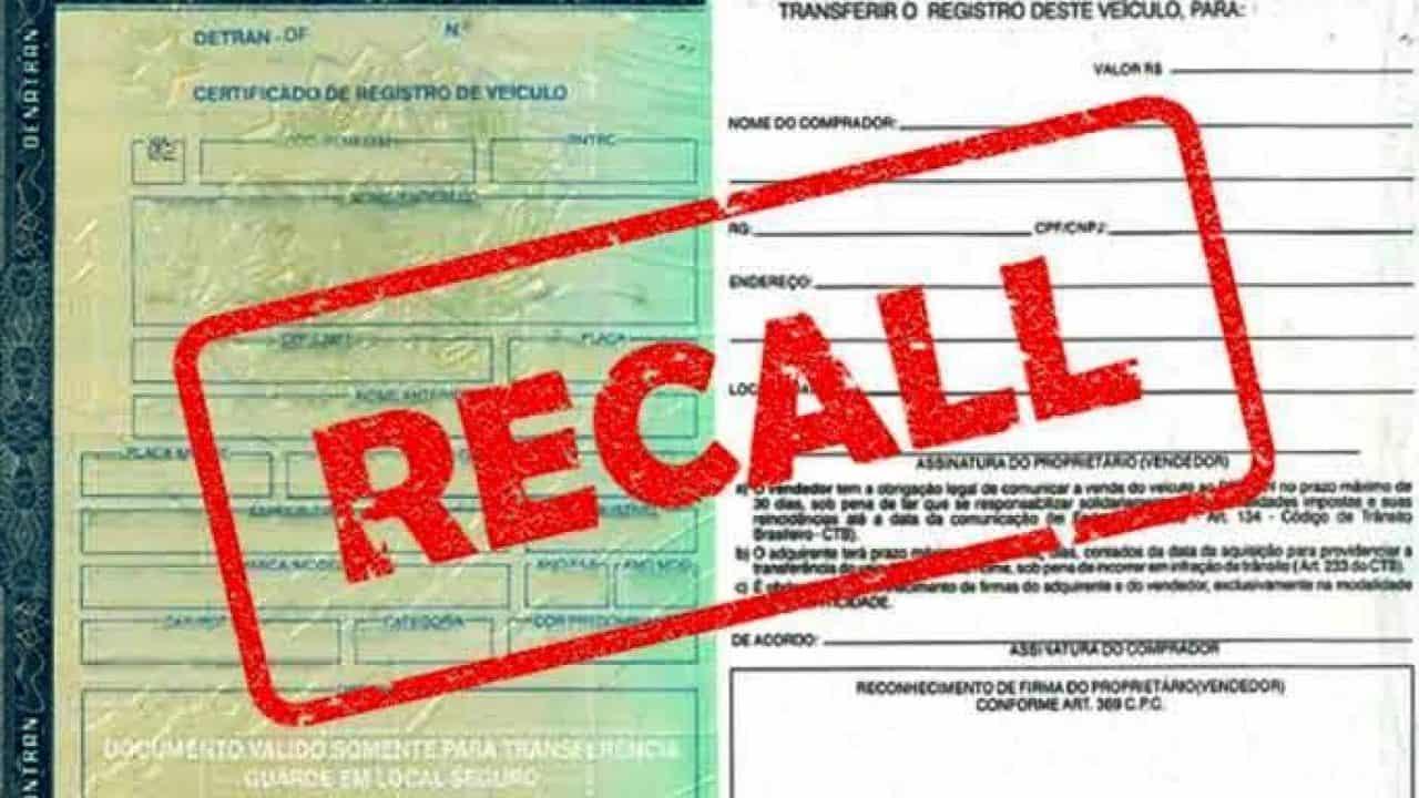 Emissão do certificado do carro só depois de atender ao recall