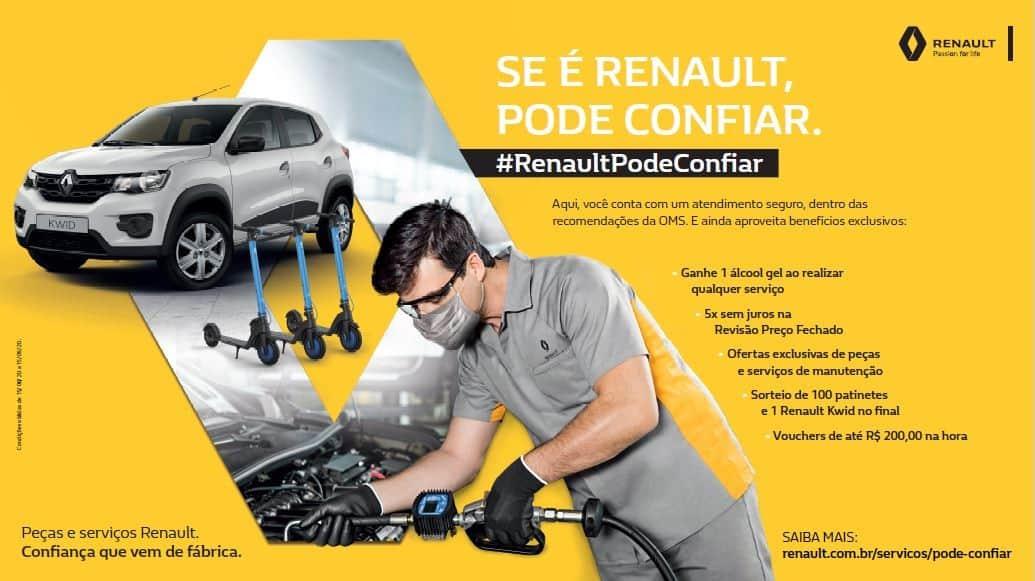 """Banner da campanha """"Se é Renault, pode confiar"""""""