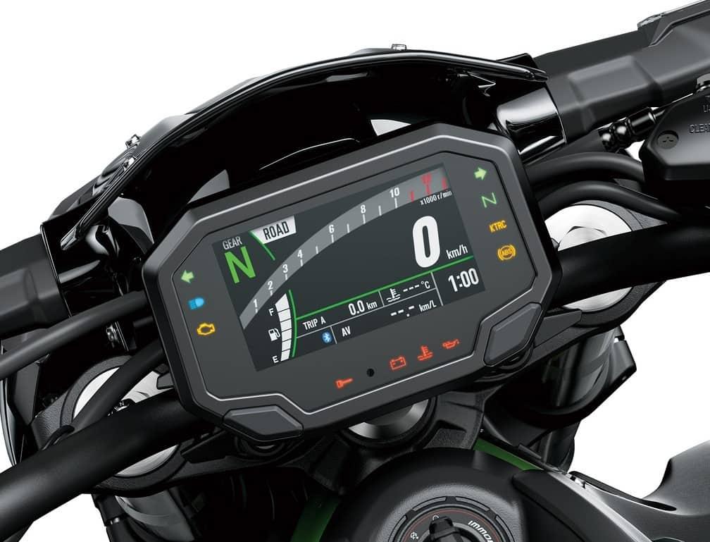 Kawasaki Z900 2021 painel digital