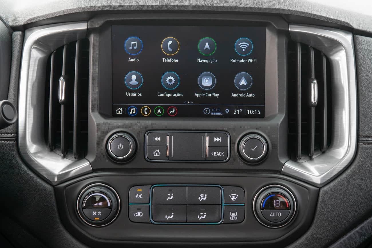 Central Multimídia da Chevrolet S10 2021