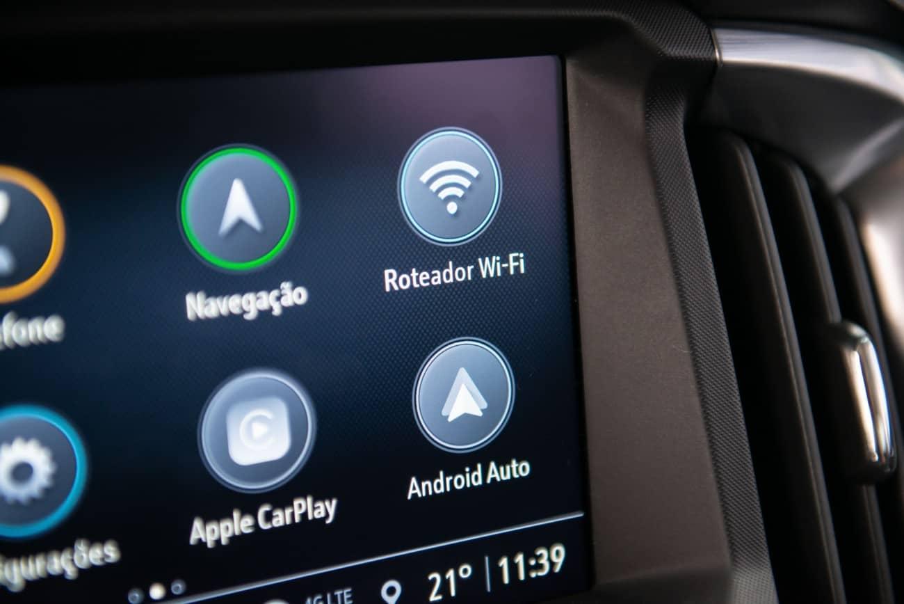 Chevrolet S10 2021 central multimídia MyLink3