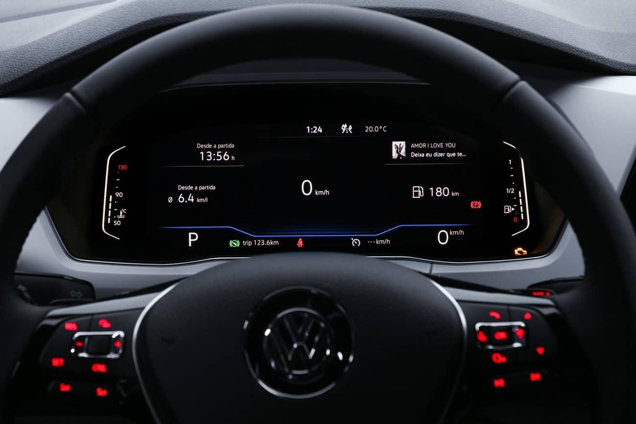 Volkswagen T-Cross 2021 painel digital