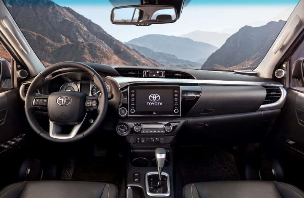 Interior da nova Toyota Hilux 2021