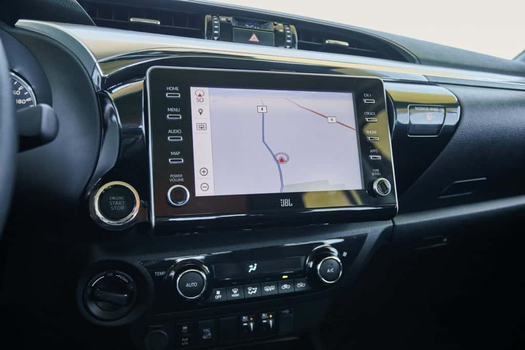 Central multimídia da nova Toyota Hilux 2021