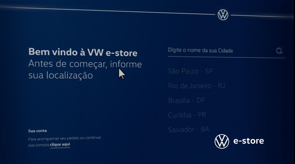 Loja online VW e-store da Volkswagen