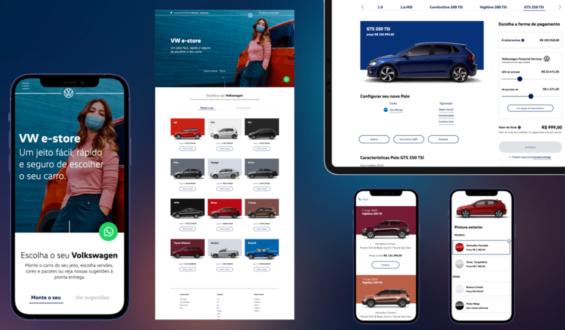 Volkswagen lança loja online VW e-store para a venda de todos os carros da marca