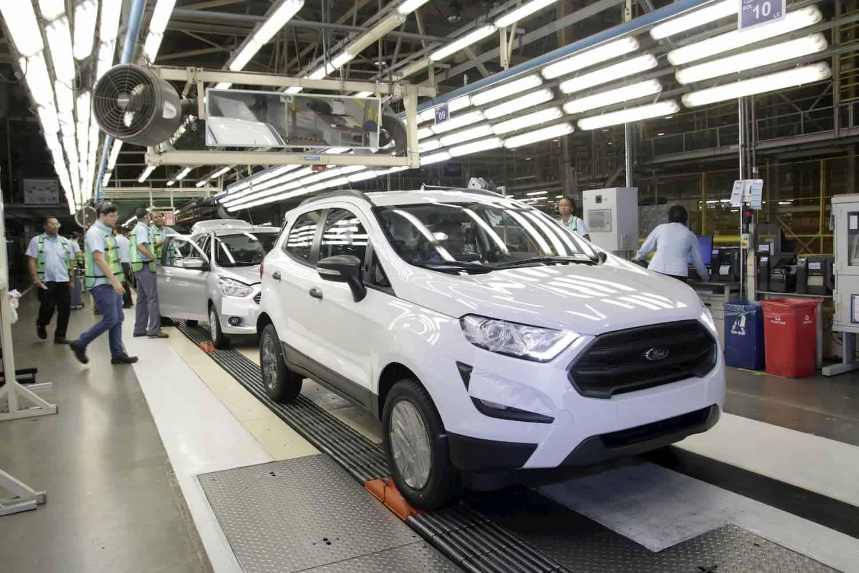 Produção de Ecosport e Ka na fábrica de Camaçari (BA)