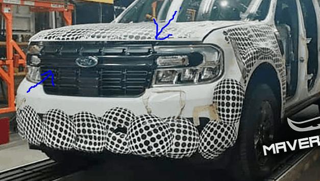 Flagra da Ford Maverick na linha de montagem no México