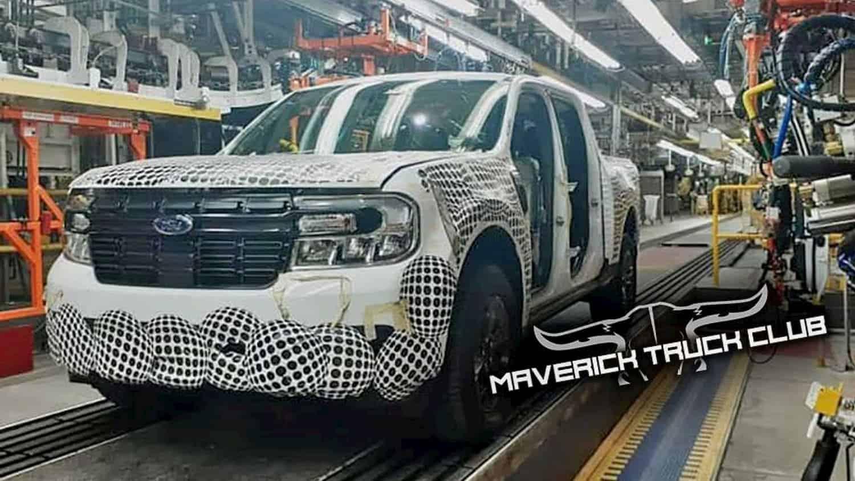 Flagra! Ford Maverick surge na linha de montagem e vem para brigar com Toro