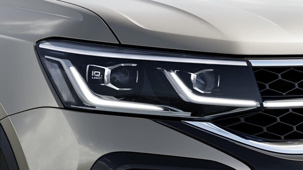 Taos vem com faróis full led e uma nova tecnologia de iluminação da Volkswagen