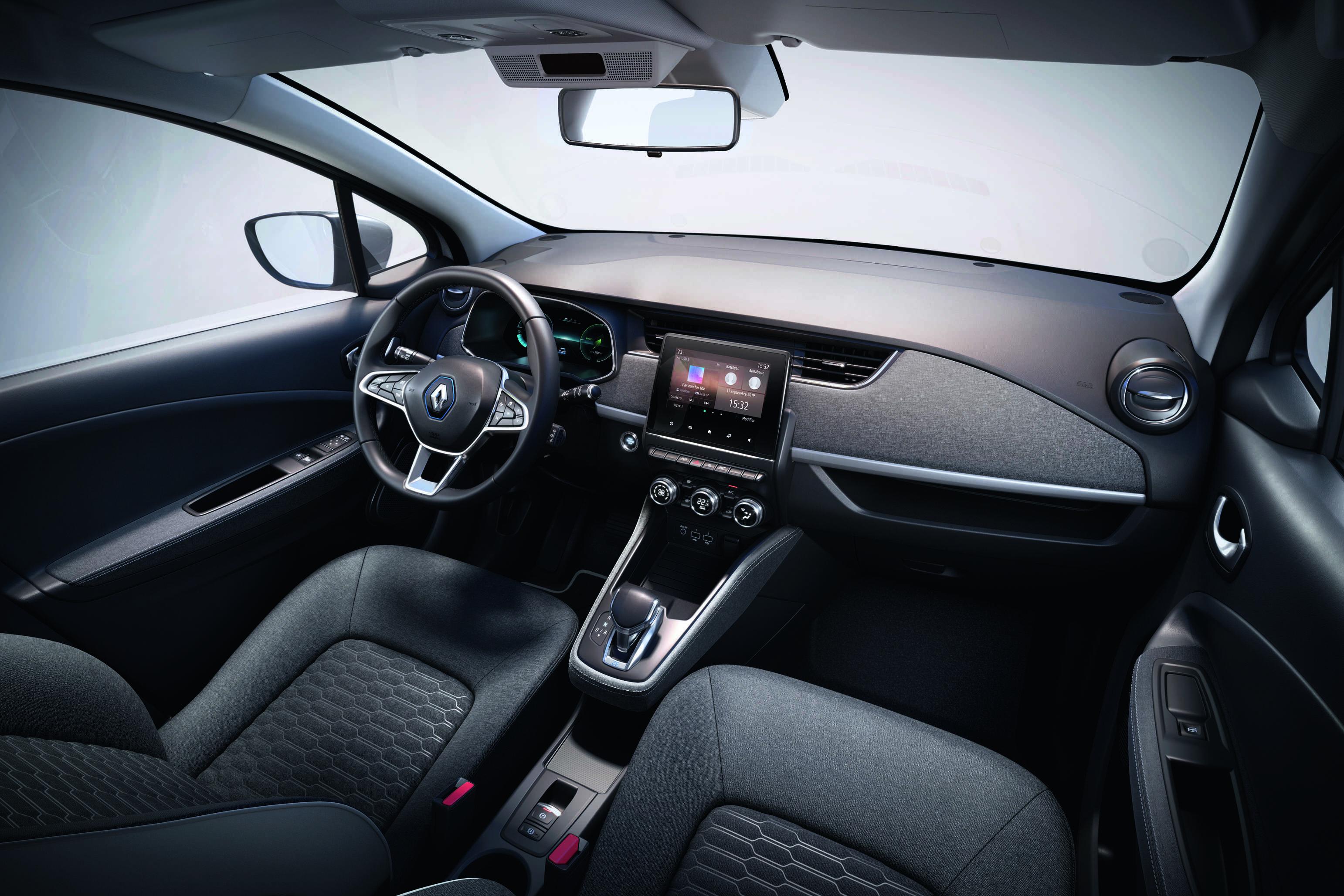 Interior do novo Renault Zoe